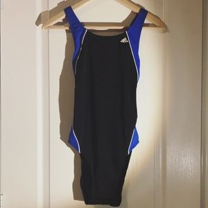 ADIDAS | Black & Blue One Piece Swimsuit